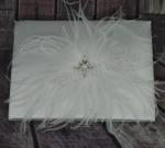 Feather Guest Book with Rhinestones image