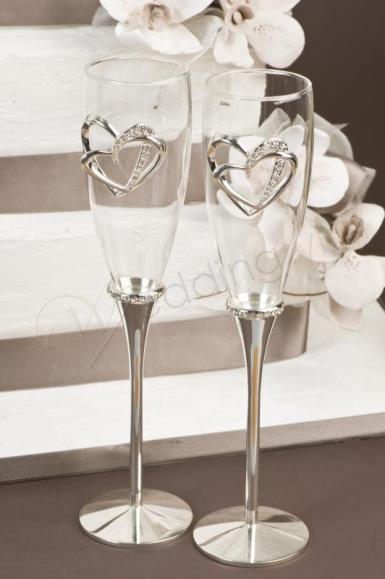 Wedding Sweetheart Deluxe Toasting Glasses - Wedding Wish Image 1