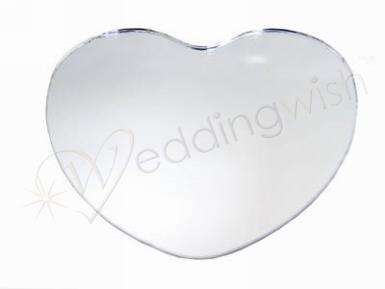 "Wedding Round, Square or Heart Shape Mirror Centrepiece - 12"" (30cm) Hire - Wedding Wish Image 1"