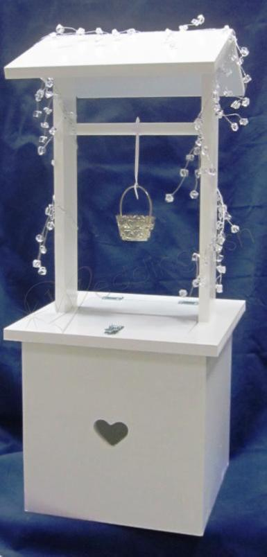 Wedding  White Wishing Well with Small Heart Image 1