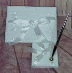 Guest Book and Pen Set - Embroidered Flowers image