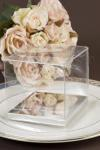 Clear PVC Boxes with silver base 5cm x 5cm image