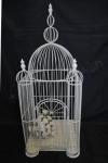 Stunning Large Square Wedding Birdcage 90cm tall - Hire image