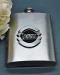 Groomsmen Hip Flask with Circle Badge image