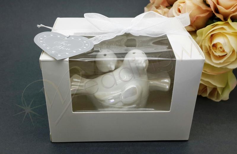Wedding Love Dove Ceramic Salt And Pepper Shakers Wedding Wish