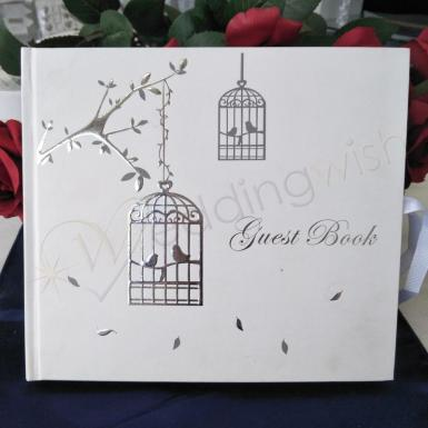 Wedding Love Birds Guest Book - Wedding or Engagement - Wedding Wish Image 1