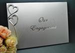 Silver Large Engagement Guest Book image