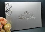 Silver Our Wedding Day Guest Book image