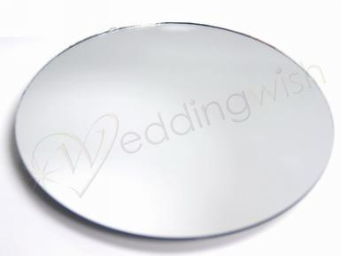 "Wedding Round, Square or Heart Mirror - 12"" (30cm) x 10 Mirrors - Wedding Wish Image 1"