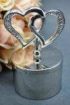 Double Hearts Metal Trinket Box image