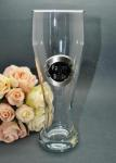 600ml Pilsner Glass with Black and Silver Plaque image