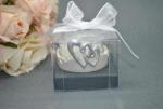 Double Heart Tealight Candle Holder image