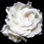 Satin Rosette Hairpiece - White image