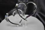 Double Hearts Diamante Wedding Cake Topper image