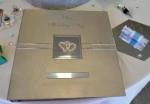 Deluxe Silver Photo Album with Double Hearts image