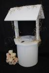 Kate Round White Wedding Wishing Well - Hire image
