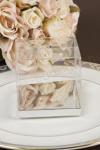 Clear PVC Box with Silver Base 8cm x 8cm image