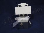Silver Chair Box with Heart Charm x 12 image
