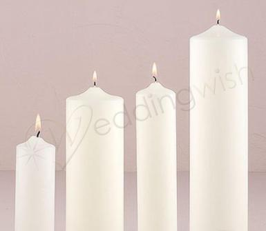 Wedding Round Pillar Candles Large - Wedding Wish Image 1