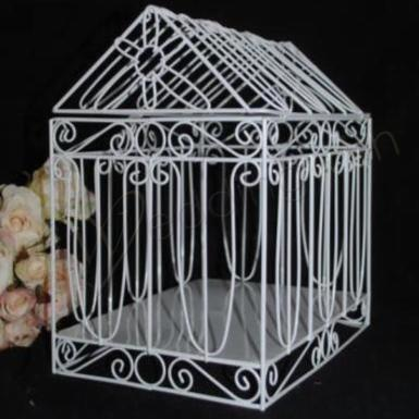 Wedding House Shaped Bird Cage Card Keeper - Wedding Wish Image 1