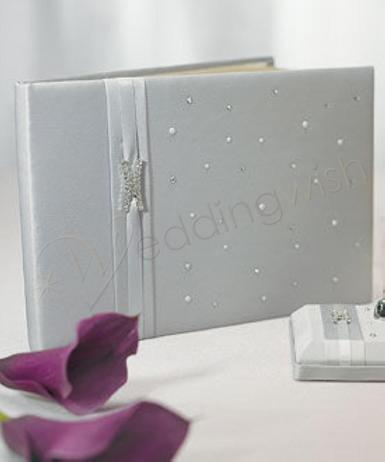 Wedding Platinum By Design Traditional Wedding Guest Book - Wedding Wish Image 1