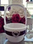 Flower Basket - Black and White with Diamante Heart image