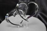 Large Double Hearts Diamante Cake Topper image