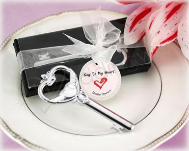 Wedding Key to My Heart Victorian Style Bottle Openers - Wedding Wish Image 1