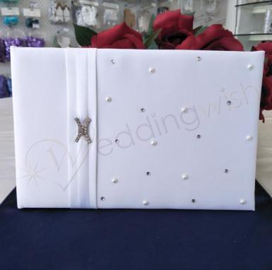 Wedding Duchess White Guest Book - Wedding Wish Image 1