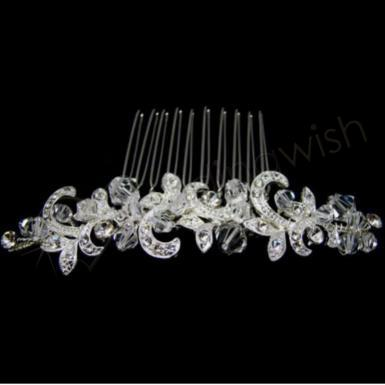 Wedding Swarovski Crystal Side or Veil Comb - Wedding Wish Image 1