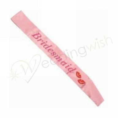 Wedding Bridesmaid Flashing Pink Sash - Wedding Wish Image 1