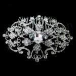 Large Oval Diamante Side Comb - Silver image