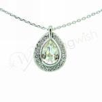 Silver Drop Diamante Necklace image