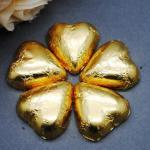 Gold Heart Shaped Chocolates x 100 image