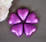 Purple / Mauve Heart Shaped Chocolates x 100 image