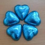 Blue Heart Shaped Chocolates x 100 image