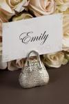 Silver Handbag Place Card Holders x 4 image