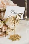 Gold Butterfly Place Card Holders image