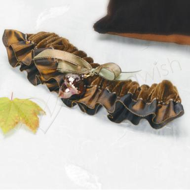 Wedding  Autumn Splendor Bridal Garter Image 1