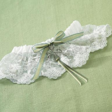 Wedding Celtic Charm Bridal Garter - Wedding Wish Image 1