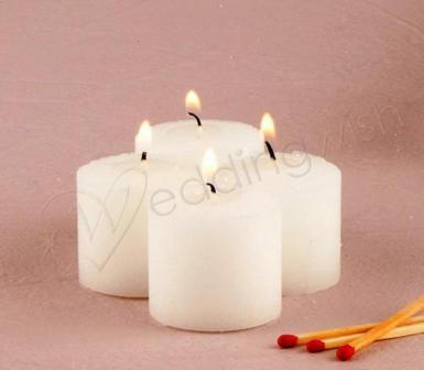 Wedding Votive Candles Package of 9 Compressed Votives - Wedding Wish Image 1