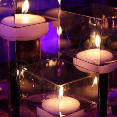 Wedding  Colored Floating Candles - 6 pack Image 1