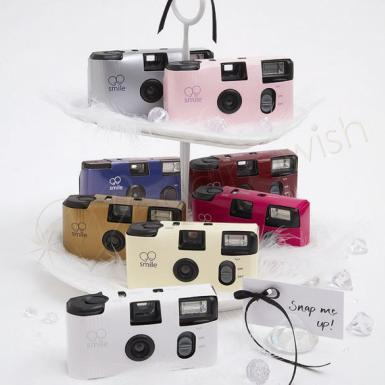 Wedding  Single Use Camera - 12 Solid Colour Designs Image 1