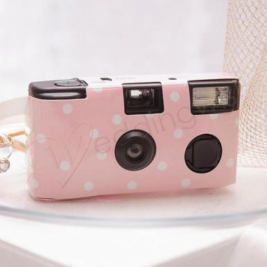 Wedding  Single Use Camera - Polka Dot Design Pastel Image 1