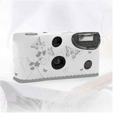 Wedding Butterfly Garden Disposable Camera - White or Ivory - Wedding Wish Image 1
