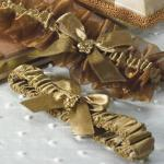 Bronze Elegance Two Piece Bridal Garter Set image