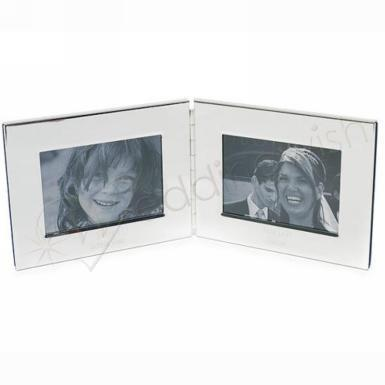 Wedding  Silver Plated Double Photo Frame Image 1