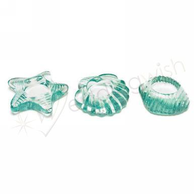 Wedding Sea Animal Glass Candle Holders x 3 sets - Wedding Wish Image 1