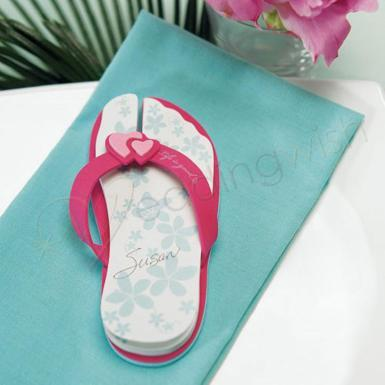 Wedding Flip Flop Note Pads - Wedding Wish Image 1