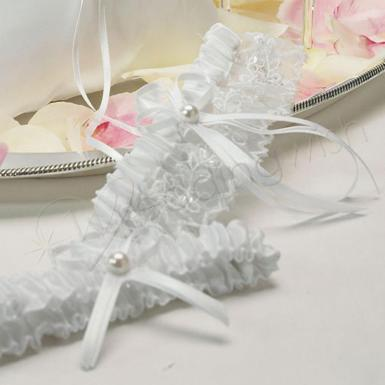 Wedding  Sweet Art Two Piece Bridal Garter Set Image 1